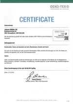 zertifikat ko-tex standard 1000 2012 d